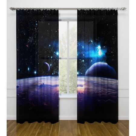 Купить Фотошторы Стильный дом «Космическое пространство»