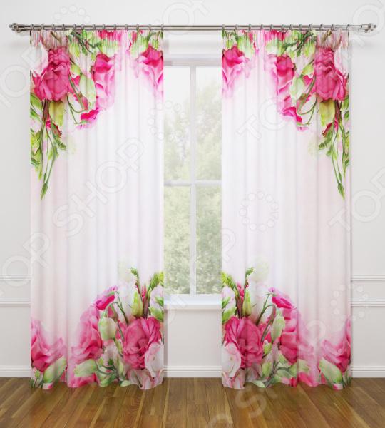 Фотошторы Стильный дом «Куст прекрасных роз»