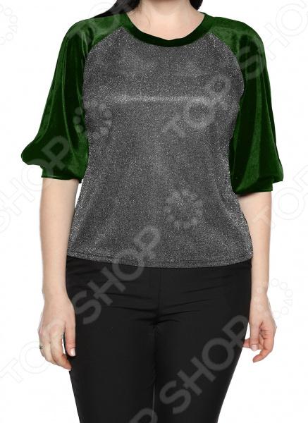 Блуза Лауме-Лайн «Магия красок». Цвет: изумрудный