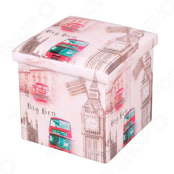 Пуф-короб для хранения Miolla Big Ben эт пуф модерна к з т кор глянц kol 536 396853 шатура пуф