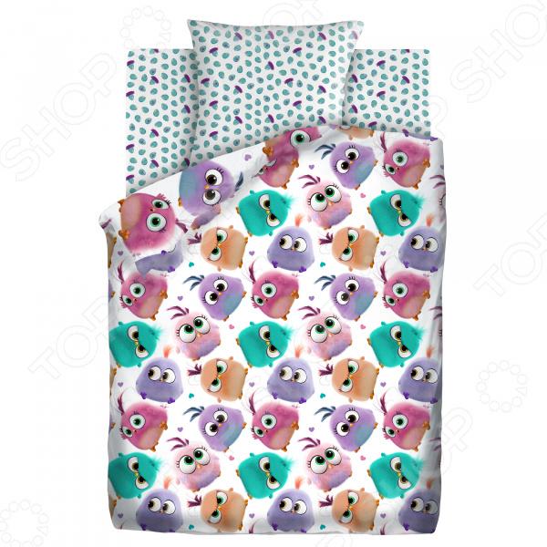 Детский комплект постельного белья Непоседа «Птенцы» детский комплект постельного белья непоседа на рыбалке