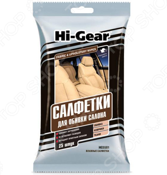 Салфетки для обивки салона Hi Gear HG 5581 набор салфеток для сильно загрязненных рук hi gear hg 5585