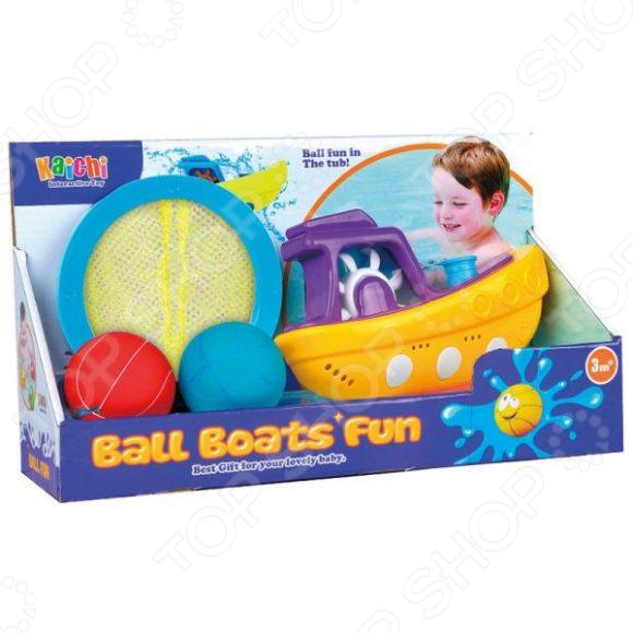 Набор игрушек для купания Наша Игрушка «Веселая лодочка» oball игрушка для ванной лодочка цвет синий