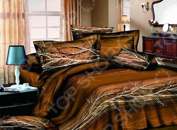 Комплект постельного белья с эффектом 3D «Осень». 1,5-спальный