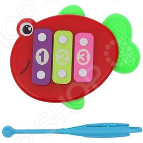 Ксилофон детский Наша Игрушка «Рыбка». В ассортименте