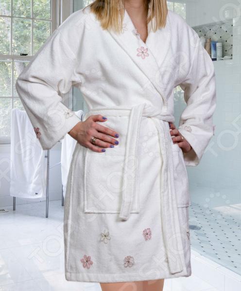 Халат махровый женский Hobby Home Collection Janet. Цвет: кремовый
