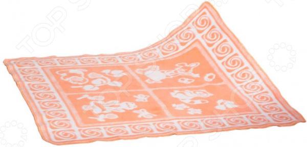 Одеяло байковое для новорожденных Dream Time «Лягушата»