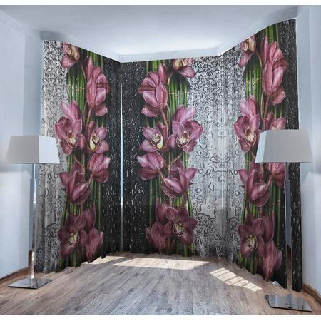 Купить Фототюль ТамиТекс «Орхидея на стекле»