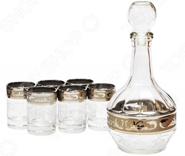Набор: графин и 6 стаканов Гусь Хрустальный «Русский Узор» графин хрустальный череп
