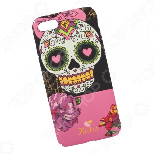 Чехол для iPhone 7/8 KUtiS Skull BK-8 Los Muertos Chica чехол для iphone 7 8 kutis rainbow hairs dk 8