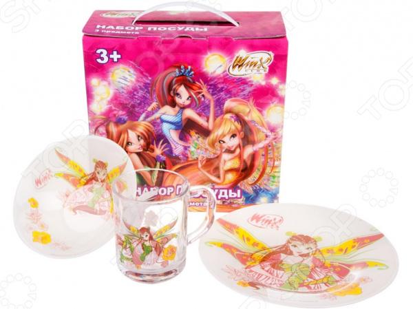 Набор детской посуды Flora Winx