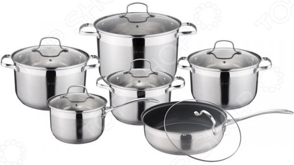 Набор посуды для готовки Rainstahl 1222-12RS/CW набор посуды rainstahl цвет стальной 12 предметов 1227 12rs cw