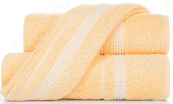 Полотенце махровое Aquarelle «Лето». Цвет: светло-желтый
