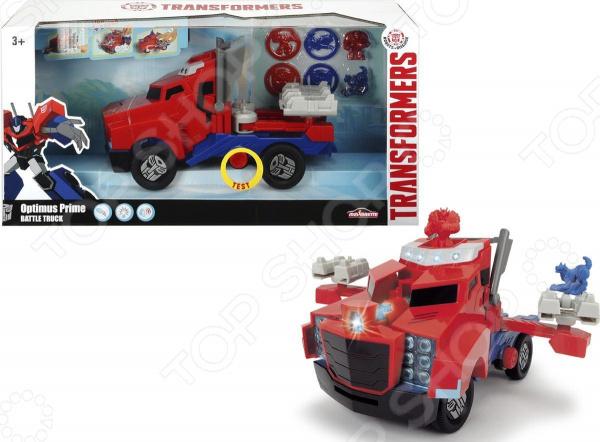 Игрушка-трансформер Dickie Optimus Prime «Боевой трейлер» игрушка dickie toys набор машинок 3745000