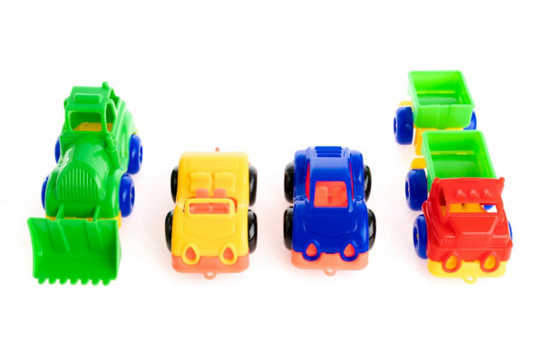 Набор машинок игрушечных Пластмастер «Малютка 4»