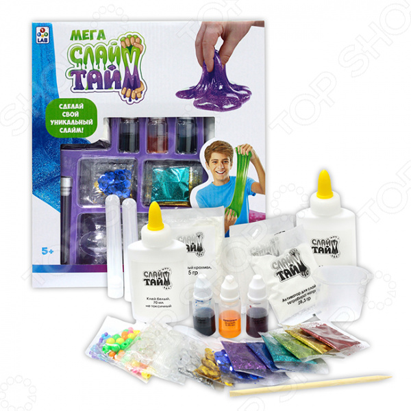 Набор для изготовления слайма 1 Toy LAB «Сделай слайм: Мега набор»