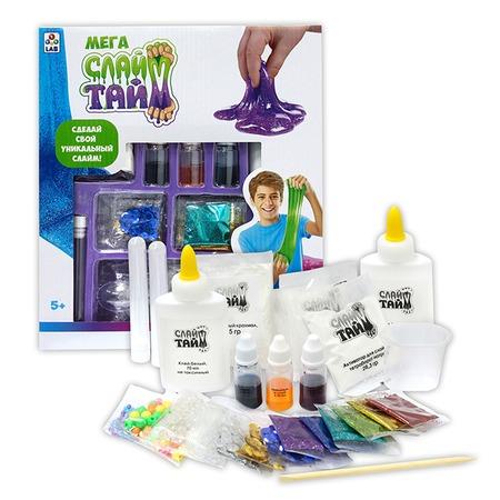Купить Набор для изготовления слайма 1 Toy LAB «Сделай слайм: Мега набор»