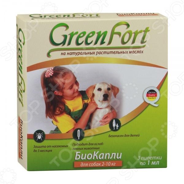 Жидкость от эктопаразитов для собак Green Fort «БиоКапли»