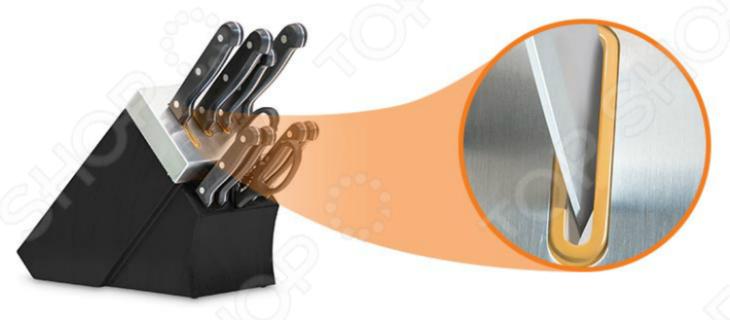 Набор ножей с подставкой и ножеточкой Delimano «Шеф повар» 1