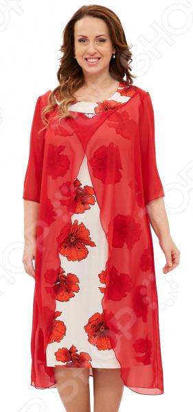 Платье Pretty Woman «Отражение души». Цвет: красный, белый