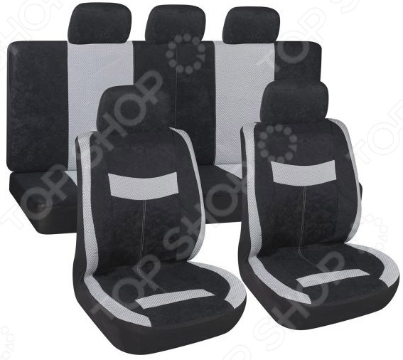 Комплект чехлов на сиденья автомобиля SKYWAY Velvet-2 1