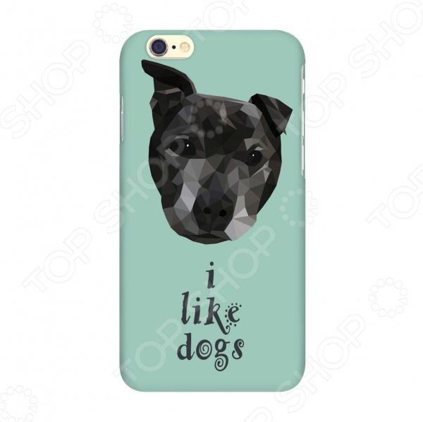 Чехол для IPhone 6 Mitya Veselkov I like dogs чехол для iphone 6 mitya veselkov i love усики ip6