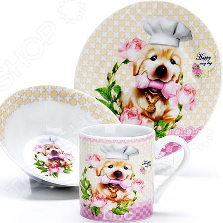 Набор посуды для детей Loraine LR-27112 «Собачка»