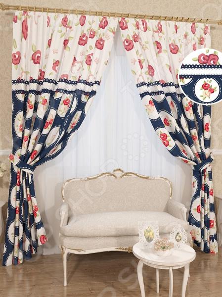 Комплект штор Сирень «Нима» комплект штор с покрывалом для спальни в москве