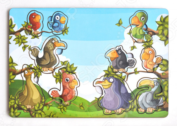 Игра развивающая «Рамка-вкладка: Веселые птахи»