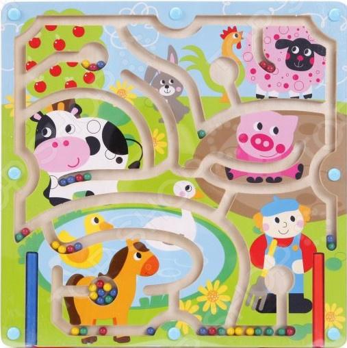 Игрушка-лабиринт деревянная Mapacha «Домашние животные» mapacha магнитный лабиринт домашние животные