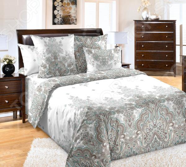 Фото Комплект постельного белья Белиссимо «Изабелла». Цвет: бежевый