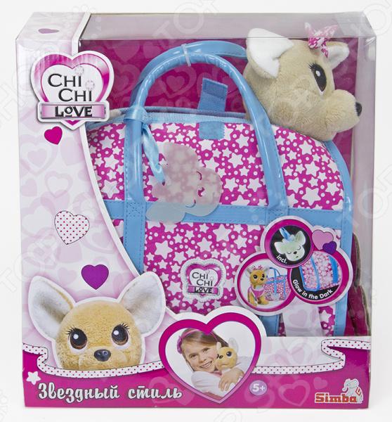 Мягкая игрушка Simba CHI CHI LOVE «Собачка-звёздный стиль с сумочкой» мягкая игрушка сюрприз собачка рокси и ее щенки just play