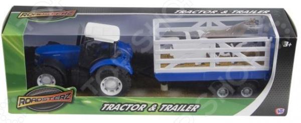 Набор машинок игрушечных HTI «Трактор и трейлер». В ассортименте