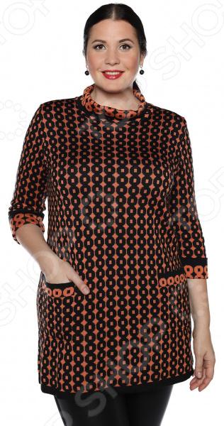 Туника Milana Style «Нити любви». Цвет: оранжевый юбка milana style цвет черный