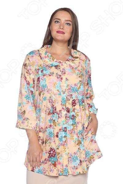 Блуза Pretty Woman «Тонкие жесты». Цвет: персиковый блуза blagof блуза мерси цвет персиковый
