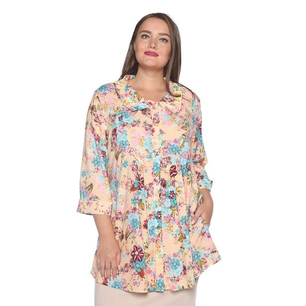 фото Блуза Pretty Woman «Тонкие жесты». Цвет: персиковый. Размер одежды: 52