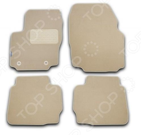 Комплект ковриков в салон автомобиля Novline-Autofamily Citroen C5 2005-2008. Цвет: бежевый