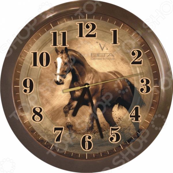 Часы настенные Вега П 1-9/6-186 «Темная лошадь»
