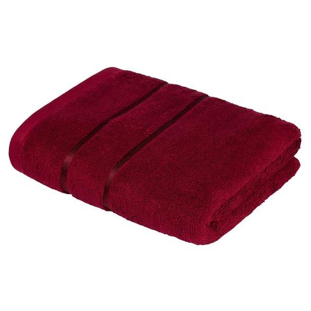 фото Полотенце махровое Ecotex «Египетский хлопок». Цвет: бордовый. Размер полотенца: 70х130 см