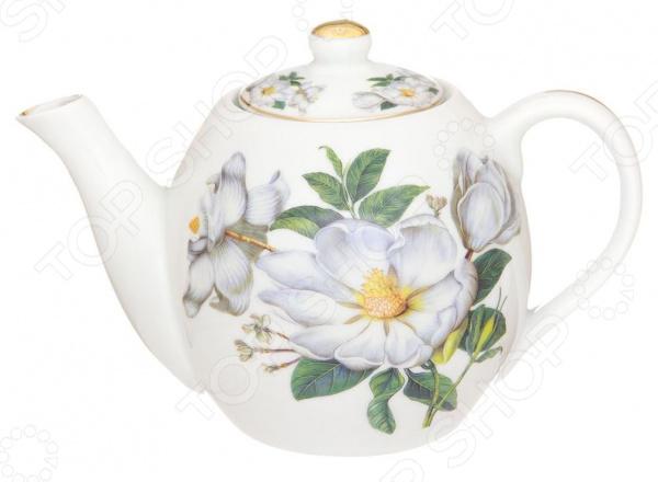 Чайник заварочный Elan Gallery «Белый шиповник» 730680