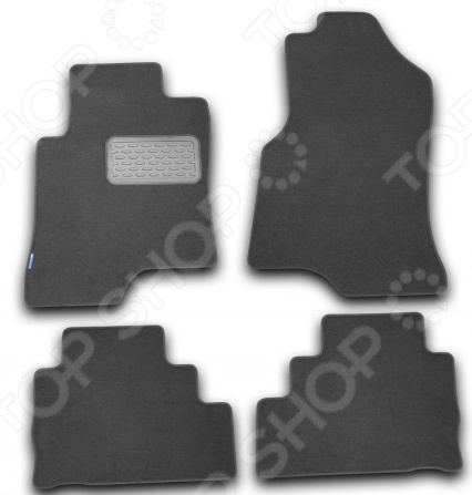 Комплект ковриков в салон автомобиля Novline-Autofamily Daewoo Matiz 2000. Цвет: черный - фото 7