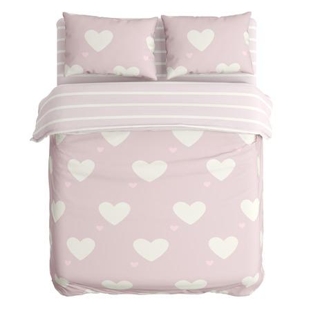 Купить Комплект постельного белья Сирень «Пудровые сердца»