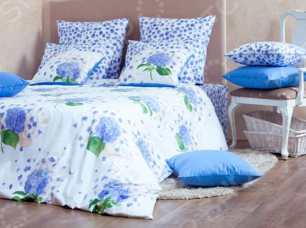 Комплект постельного белья MIRAROSSI Virginia blue комплект белья mirarossi domenica семейный наволочки 70х70 цвет белый коралловый зеленый