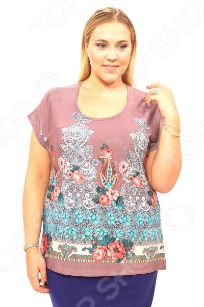Блуза Pretty Woman «Цветочная мечта». Цвет: фиолетовый