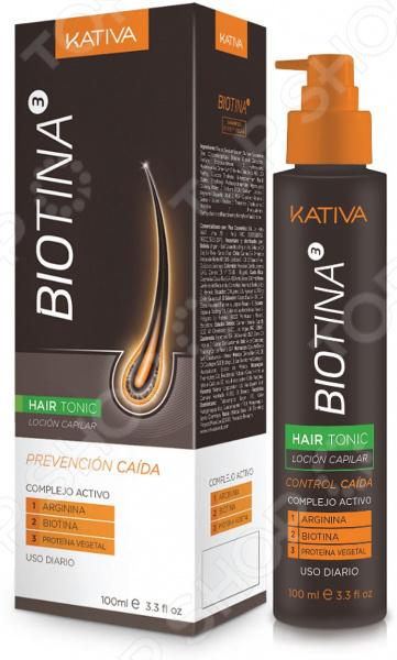 Тоник против выпадения волос Kativa Biotina шампунь коллагеновый kativa