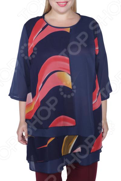 Туника PreWoman «Яркая волна» блуза prewoman prewoman mp002xw020ik