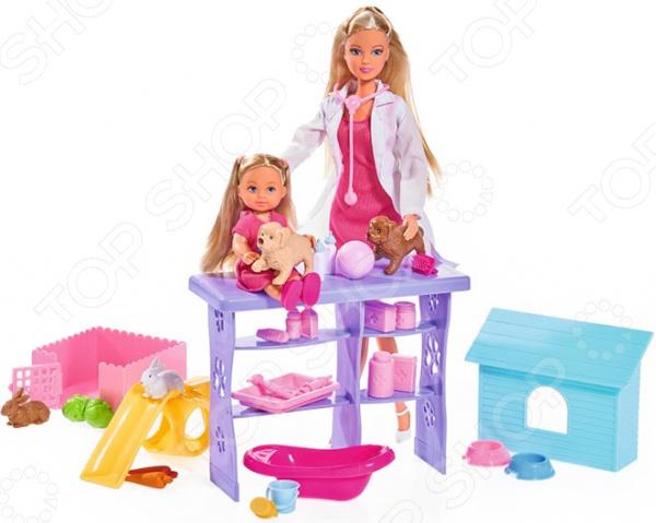Набор кукол Simba «Штеффи и Еви. Мир животных» simba набор кукол штеффи и еви мир животных