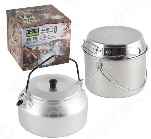 Набор туристической посуды: котелок и чайник Ecos Camp-S2