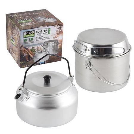 Купить Набор туристической посуды: котелок и чайник Ecos Camp-S2