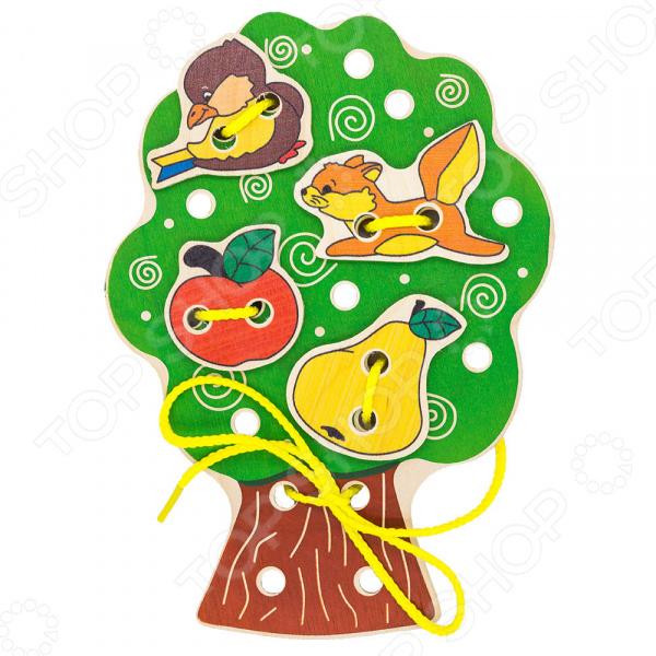 Игрушка развивающая для малыша Alatoys «Шнуровка: Дерево»